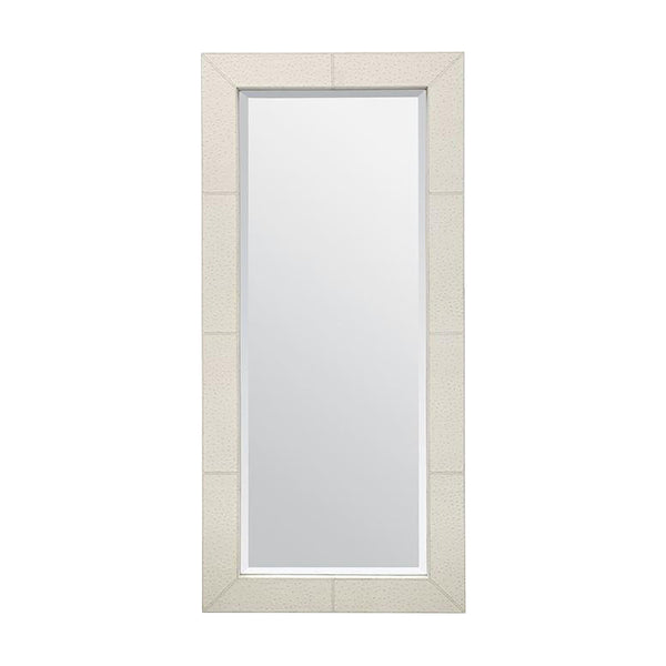 Zsa Zsa Cream Ostrich Full Length Mirror