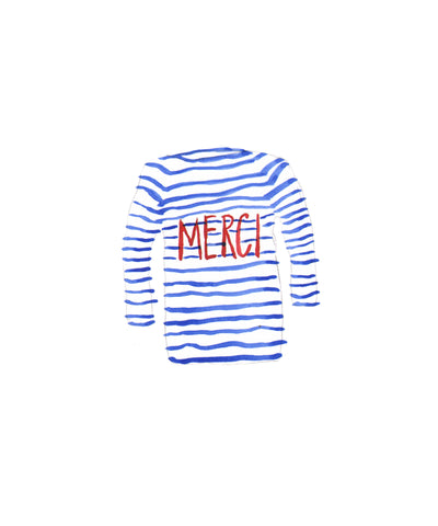 #115 Merci Stripe Shirt