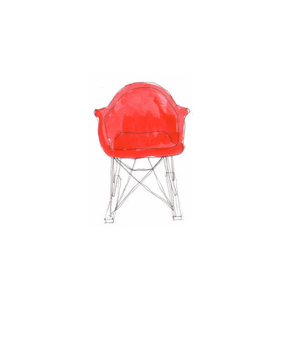 #138 Red Eames Rocker - Spot On Collective