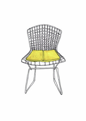 #137 Yellow Bertoia Chair