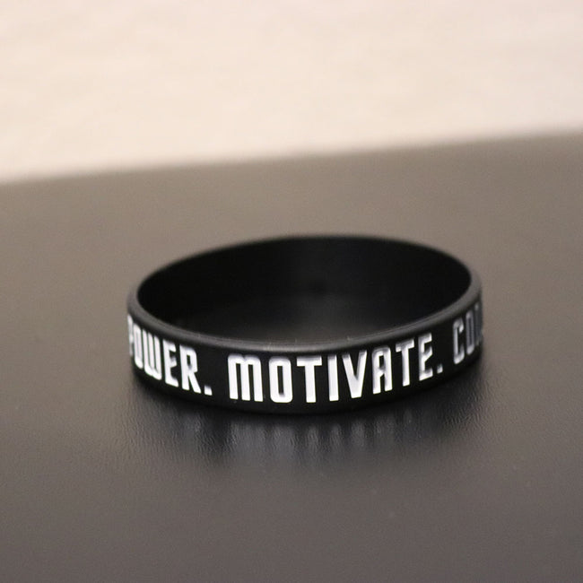 Empower Motivate Conquer Adult Black Wristband - Deviant Sway