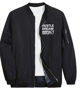 Never Stop Hustle Dream Impact Bomber Jacket