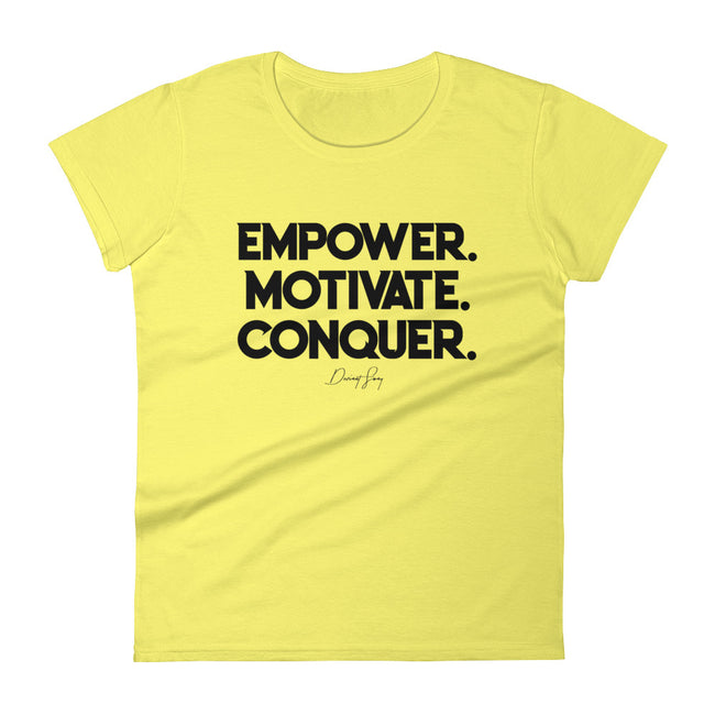 Women's Deviant Sway Empower Motivate Conquer Signature short sleeve t-shirt