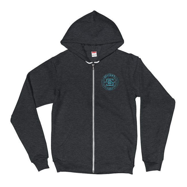 Deviant Sway Classic Vintage Blue Signature Full-zip Hoodie - Deviant Sway