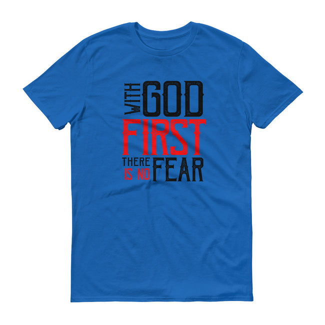 Men's With God First No Fear short sleeve t-shirt - Deviant Sway