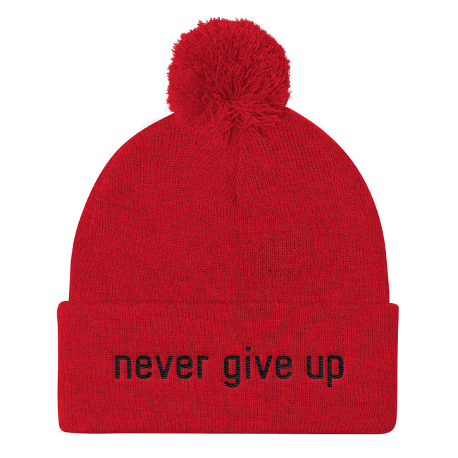 Never Give Up Knit Cap Beanie - Deviant Sway