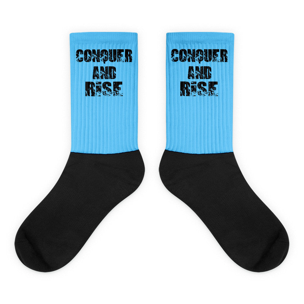 Conquer and Rise Athletic socks