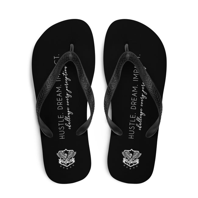 Hustle Dream Impact Challenge Every Perception Signature Flip-Flops - Deviant Sway