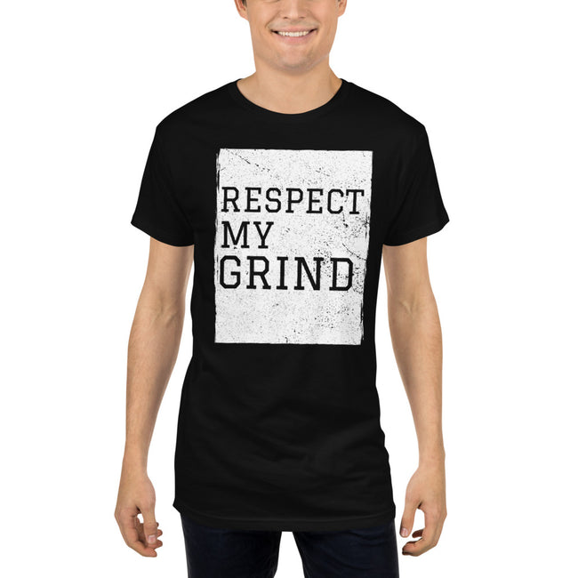 Men's Respect My Grind Long Body Urban Tee - Deviant Sway