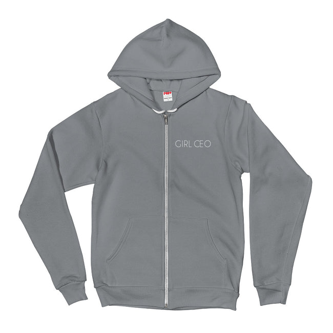 Women's Girl CEO - The Hustle is Female Full-Zip Hoodie - Deviant Sway
