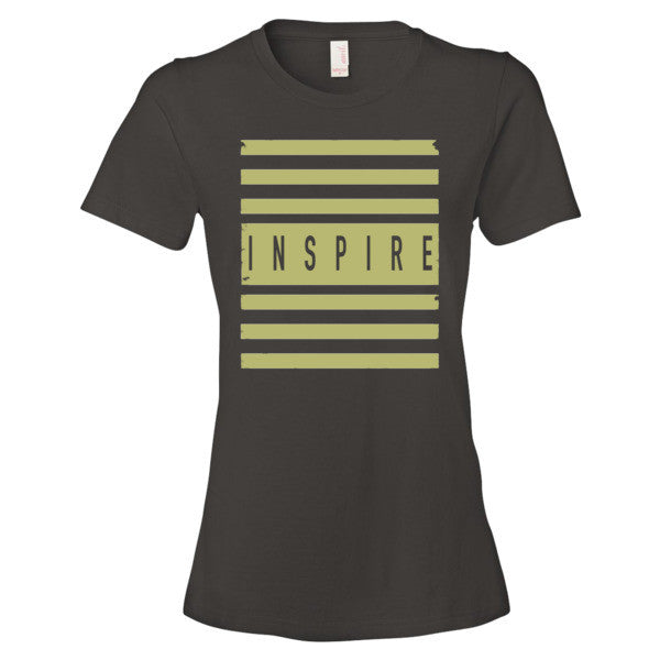 Women's INSPIRE stripes short sleeve t-shirt - Deviant Sway