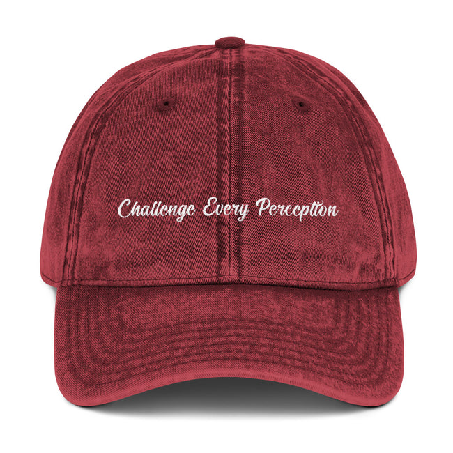 Challenge Every Perception Vintage Cap - Deviant Sway