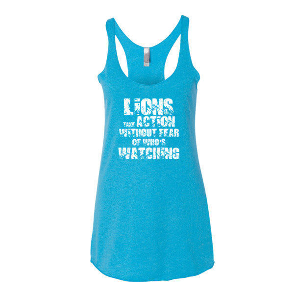 Women's Lions Take Action Without Fear racerback tank