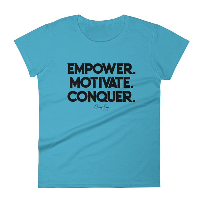 Women's Deviant Sway Empower Motivate Conquer Signature short sleeve t-shirt - Deviant Sway