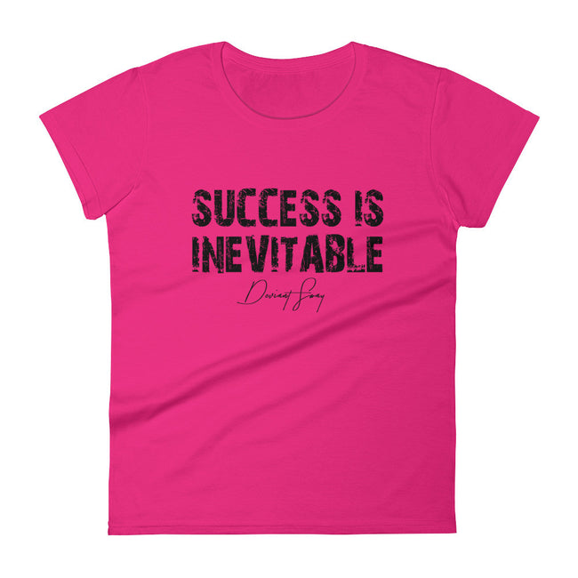 Women's Success is Inevitable short sleeve t-shirt - Deviant Sway