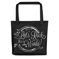Deviant Sway Let's Rock the World Metallic Tote bag