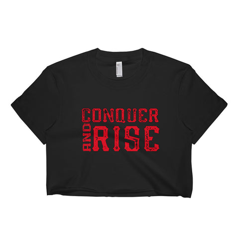 Women's Conquer and Rise short sleeve crop top