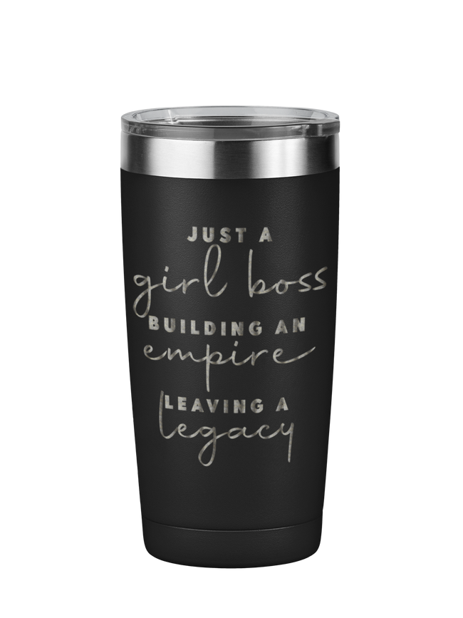 Just a Girl Boss Motivational Tumbler