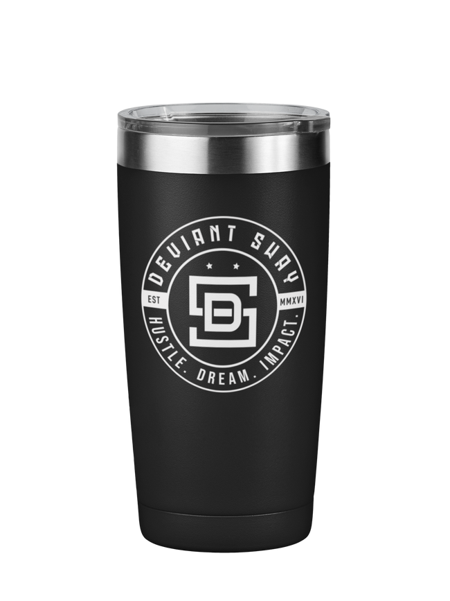 Deviant Sway Vintage Logo Motivational Tumbler