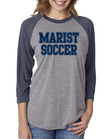 Next Level Tri-Blend 3/4 Sleeve - Marist Soccer