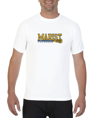 Short Sleeve Tee  - Unisex - Adult and Youth Sizes - Comfort Color - Full Front - Marist Lacrosse