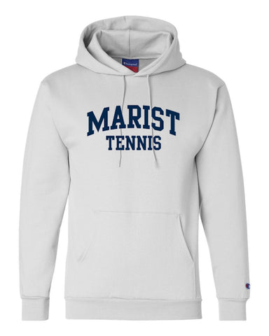 Champion 9 oz. Double Dry Eco Pullover Hood 50/50 - YOUTH and ADULT sizes - Marist Tennis - White