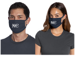 Three-ply, 100% cotton jersey face mask, 2-pack, Cross Country, Navy