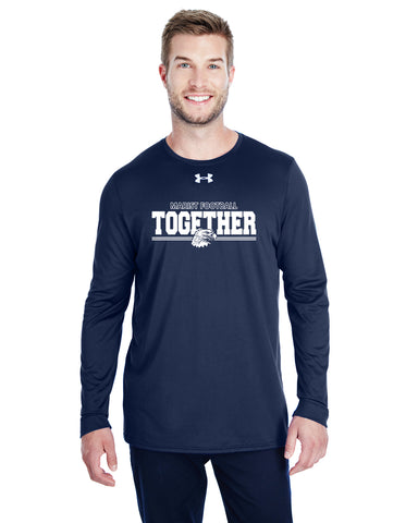 "Football - UA - Unisex - Locker Tee Long Sleeve - Navy - ""Togther"""