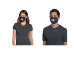 Three-ply, 100% cotton jersey face mask, 2-pack, Football, Navy