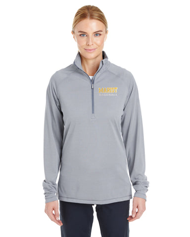 Ladies' UA Tech Stripe 1/4 Zip - Graphite - Baseball