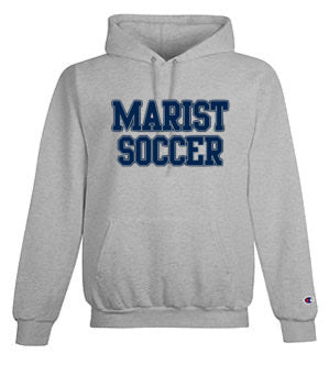 Champion 9 oz. Double Dry Eco Pullover Hood 50/50 YOUTH and ADULT sizes Marist Soccer - Grey