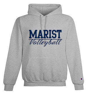 Volleyball - Champion Adult 9 oz. Double Dry Eco Pullover Hood 50/50 YOUTH and ADULT - Light Steel