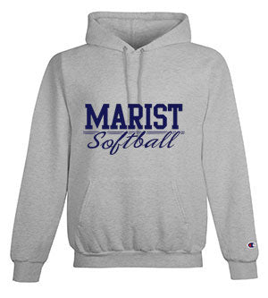 Softball - Champion Adult 9 oz. Double Dry Eco Pullover Hood 50/50 YOUTH and ADULT - Light Steel