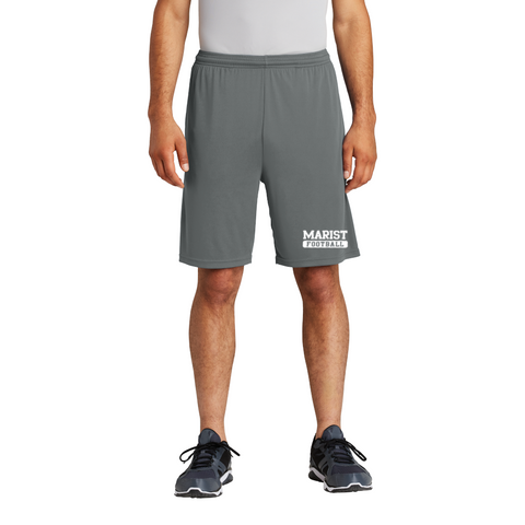 Sport-Tek®  Pocketed-Short, Iron Grey, Football