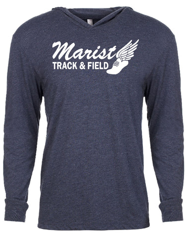 Next Level Triblend Long-Sleeve Hoodie - Unisex - Marist Track and Field
