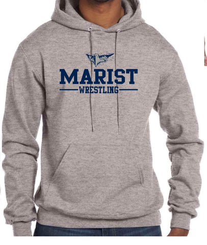 Champion 9 oz. Double Dry Eco Pullover Hood 50/50 YOUTH and ADULT sizes Marist Wrestling