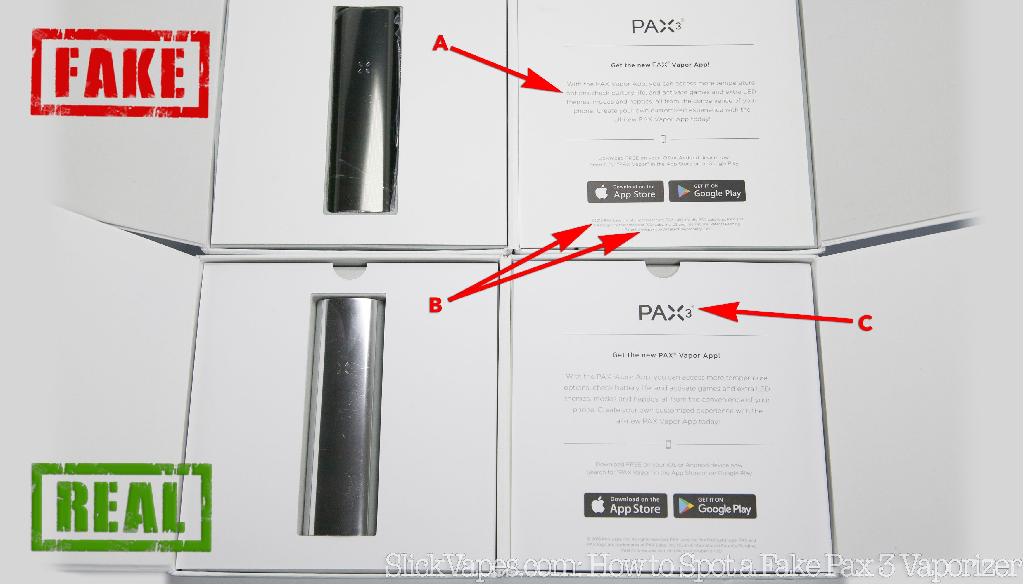 23 Ways To Spot A Fake Pax 3 Vaporizer Is My Counterfeit Enclosure For Wiring Devices Google Patents On Wire Three Way Outlet Vs Real