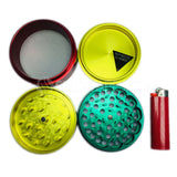 "Space Case Grinders / Sifter 4 Piece (Large 3.5"") - Rasta"