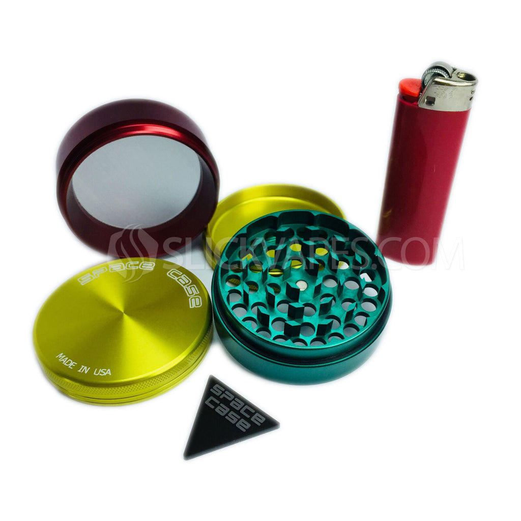"Space Case Grinders / Sifter 4 Piece (Medium 2.5"") - Rasta"