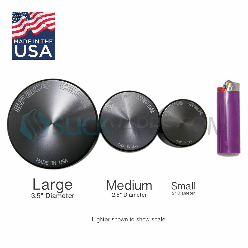 "Space Case Grinders / Sifter 4 Piece (Large 3.5"") - Titanium"