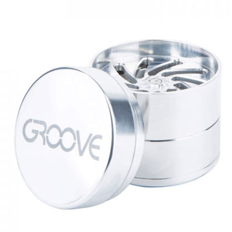 "Aerospaced Groove Grinder 4 Piece (Small 2"") - Silver"