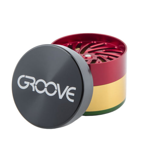 "Aerospaced Groove Grinder 4 Piece (Large 3"") - Rasta"