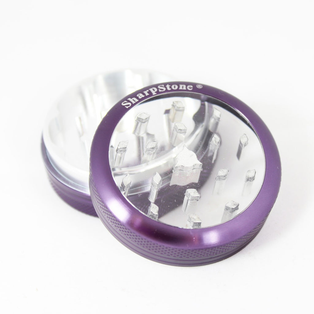 Sharpstone Glass Top Grinder 2 Piece Purple - 1