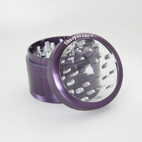 Sharpstone Glass Top Grinder 4 Piece Purple / 2.2inch - 1