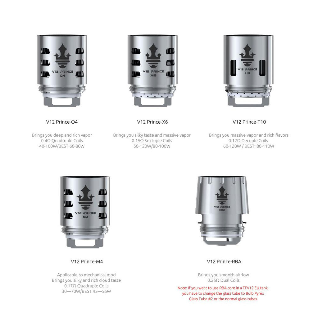 Smok TFV12 Prince Cloud Beast Replacement Coils - Pack of 3