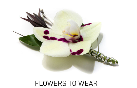 Boutonnieres, Corsages and Headpieces - flowers to wear
