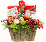 Christmas Fruit & Gift Basket
