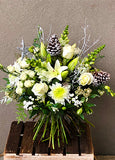 Snow on Cedar Handtied Bouquet