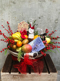 Festive Fruit and Chocolate Gift Basket