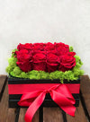 For My Love Rose Hat Box Arrangement